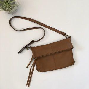 Lucky Brand Leather Fold Crossbody Bag.
